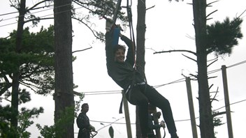 High ropes course at Adrenalin Forrest
