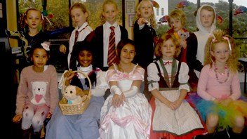 Year 4 students dressed as their favourite book characters.