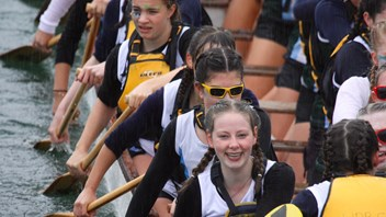 Weather didn't dampen Marsden girls' spirits at dragon boat festival