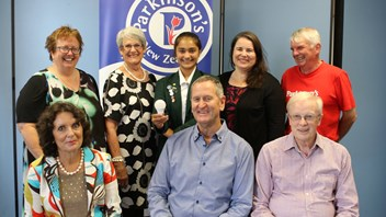 Sakira with staff at Parkinson's NZ
