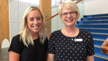 Elly Bray with Principal, Narelle Umbers
