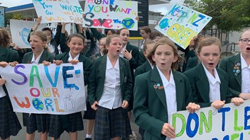 Year 7 students stage lunchtime march in Karori