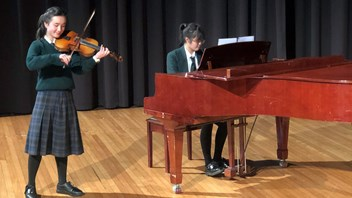 Valerie Howe, Year 8 (with Joyce Chan, Year 10, accompanying)